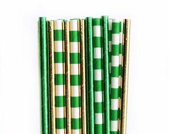 Green Gold Paper Straws And Party Decorations Birthday Zelda ZELDAstraws101