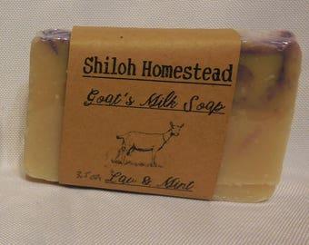 Lavender & Mint Goats Milk Soap