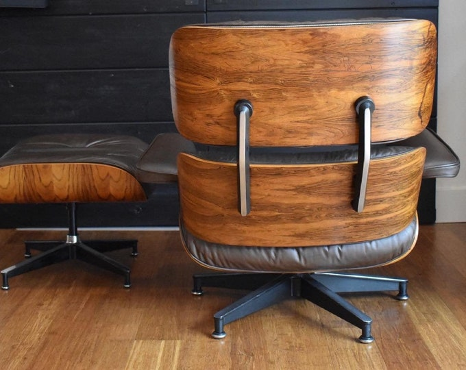 Vintage Brazilian Rosewood Eames lounge chair and ottoman by Herman Miller (670/671), circa 1970s - #257