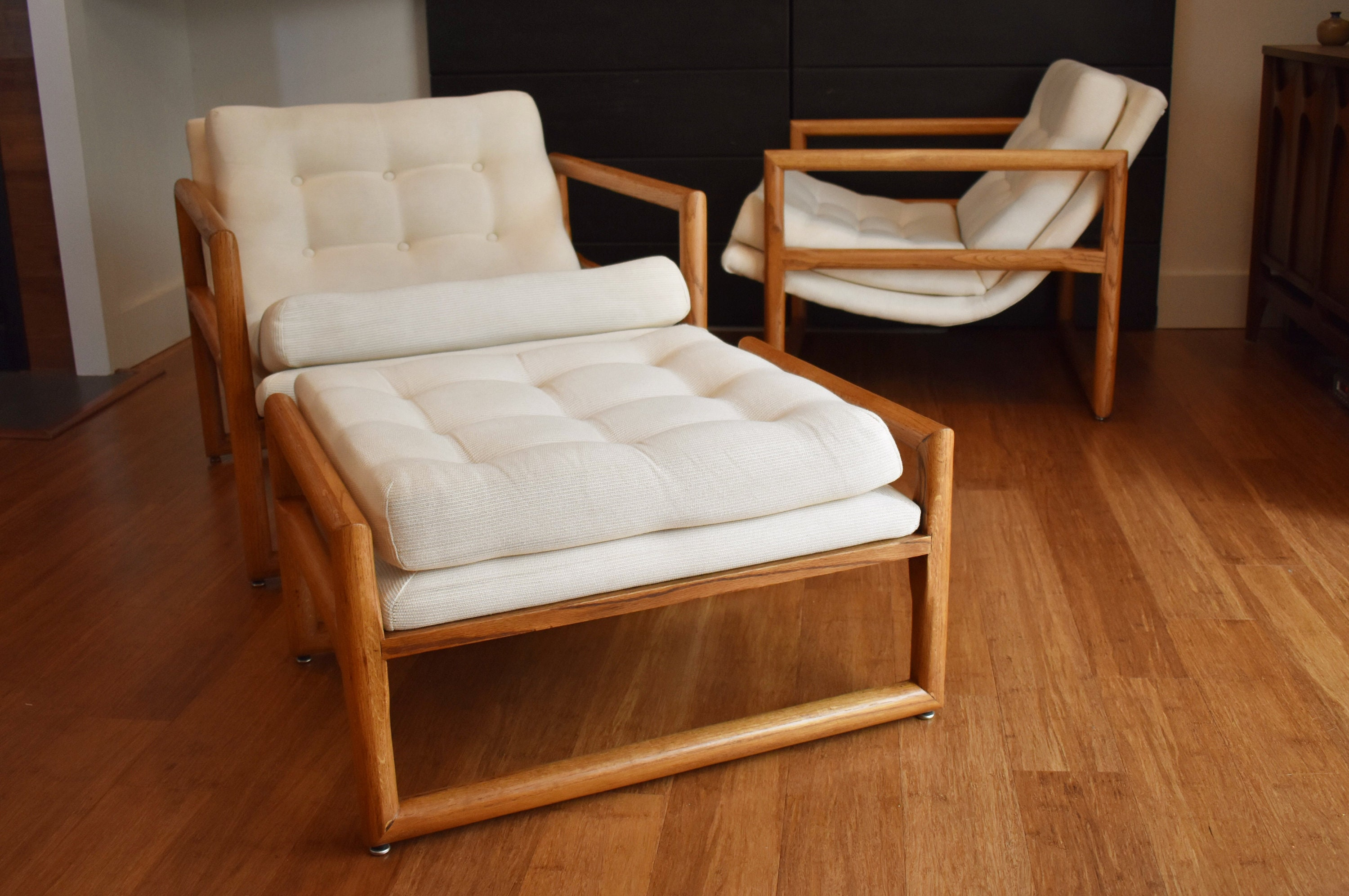 Tremendous Pair Of Milo Baughman For Thayer Coggin Scoop Chairs W Gmtry Best Dining Table And Chair Ideas Images Gmtryco