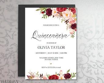 Quinceanera invites Etsy