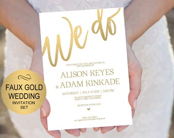 gold invitation etsy