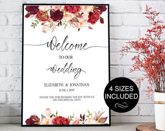 gold wedding welcome sign template wedding reception greet etsy