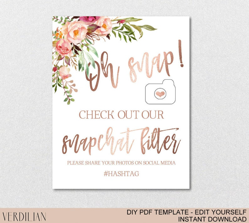 image regarding Printable Snapchat Filters named Oh Snap Geofilter Indication, Snapchat Filter Signal, Check out Out Our Snapchat Filter, Wedding day Get together Indication -Do it yourself Editable PDF-Fast DOWNLOADVRD156RWJ