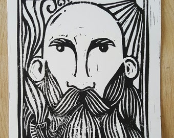 The Warden Block Print