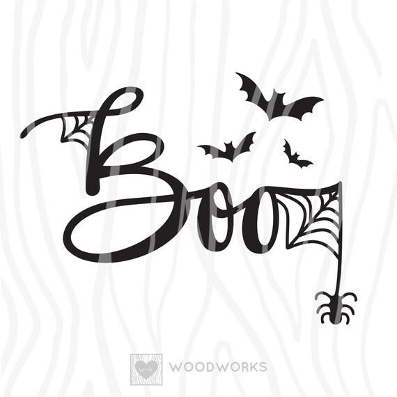Svg Dxf Halloween Boo Spooky Cute Bat Cut File Etsy