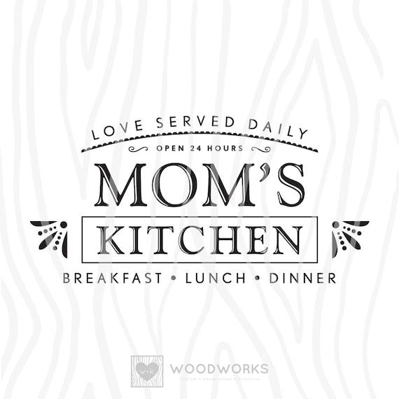 Svg Dxf Love Served Daily Mom S Kitchen Etsy