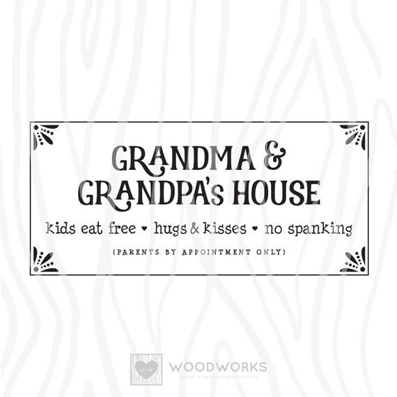 Svg Dxf Grandma Grandpa S House Kids Etsy