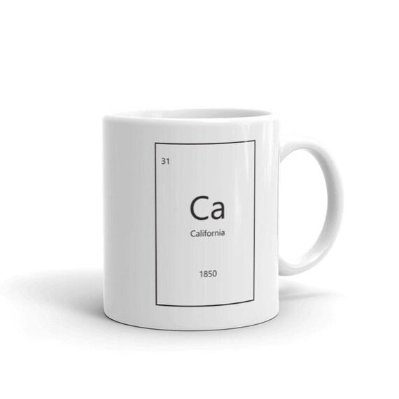 California Periodic Table Coffee Mug Chemistry Mug Science Etsy