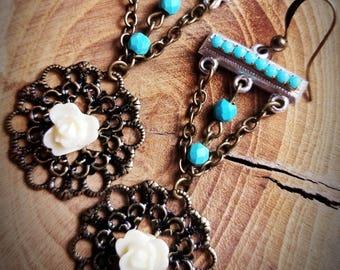 1950 assemblage earrings