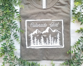 Colorado Mountains Novelty State Pride Tee T-Shirt