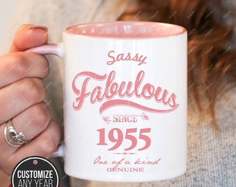 Sassy Fabulous Since 1955 64th Birthday Gifts For Women Gift Mug Mens