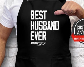 Personalized Apron Boyfriend Gift Dad Birthday Gift Custom Apron Mens Apron Gift Husband Birthday Gift Anniversary Gift for Him