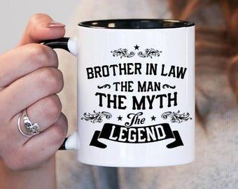 Brother In Law The Man Myth Legend Gift Birthday Mug Idea Baby