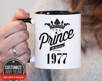 Prince Since 1977 41st Birthday Mug Gifts For Women Gift Mens