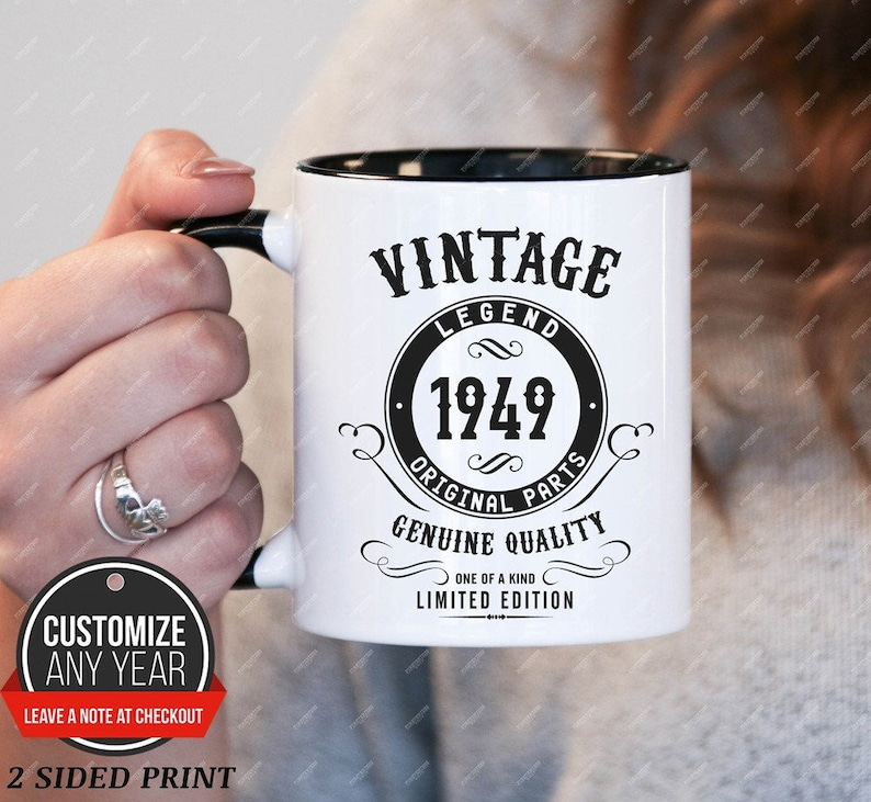 Vintage C In 1949 70th Birthday Gifts For