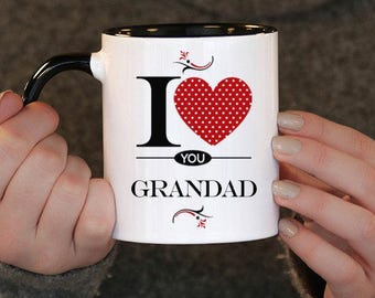 I Love You Grandad , Grandad Gift, Grandad Birthday, Grandad Mug, Grandad Gift Idea, Baby Shower, Mothers Day, mug gift