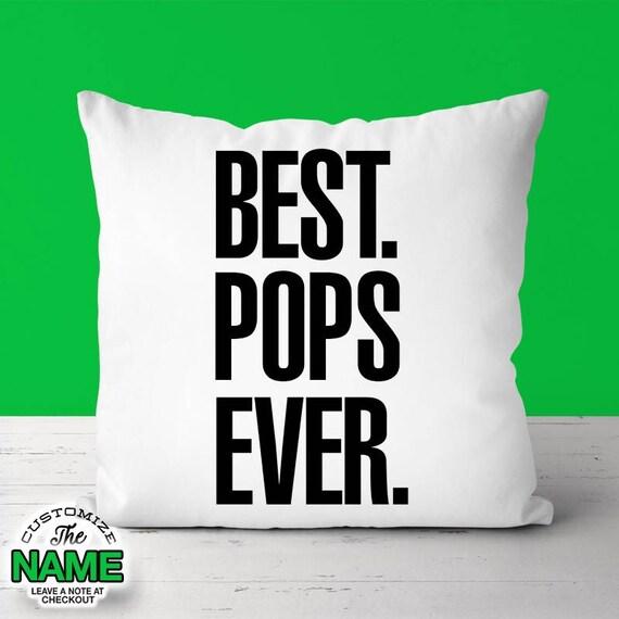 Best Pop jamais, Papy Gift, anniversaire pop, grand-père Gift, fête des pères, oreiller saute, saute une idée de cadeau, mug