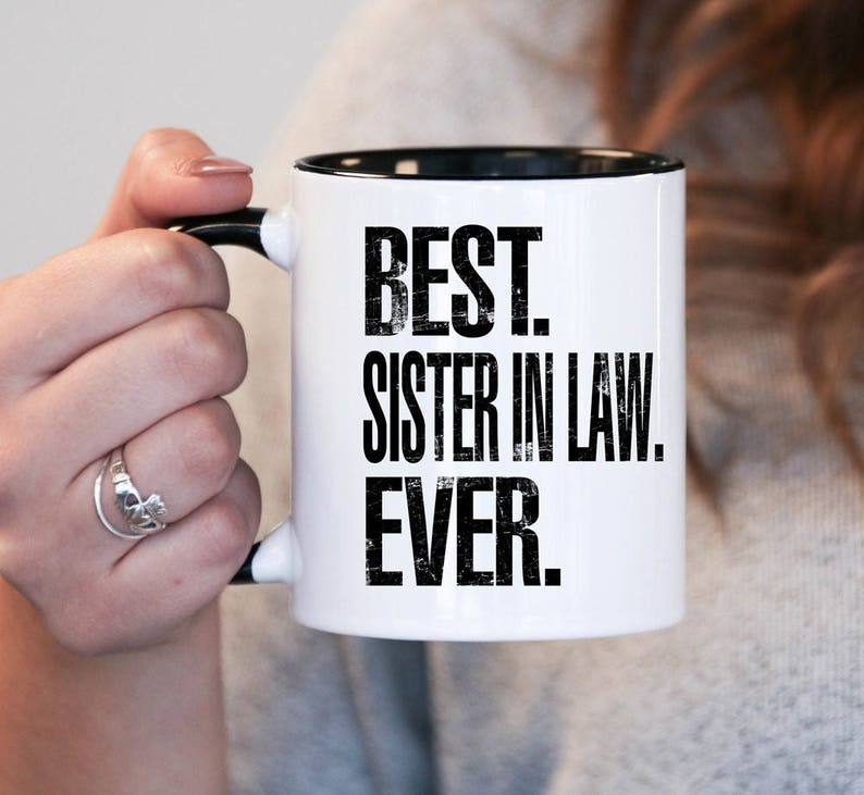 Christmas Gifts For Sister In Law.Christmas Gift Best Sister In Law Ever Step Sister Gift Step Sister Birthday Step Sister Mug Step Sister Gift Idea Baby Shower Mug