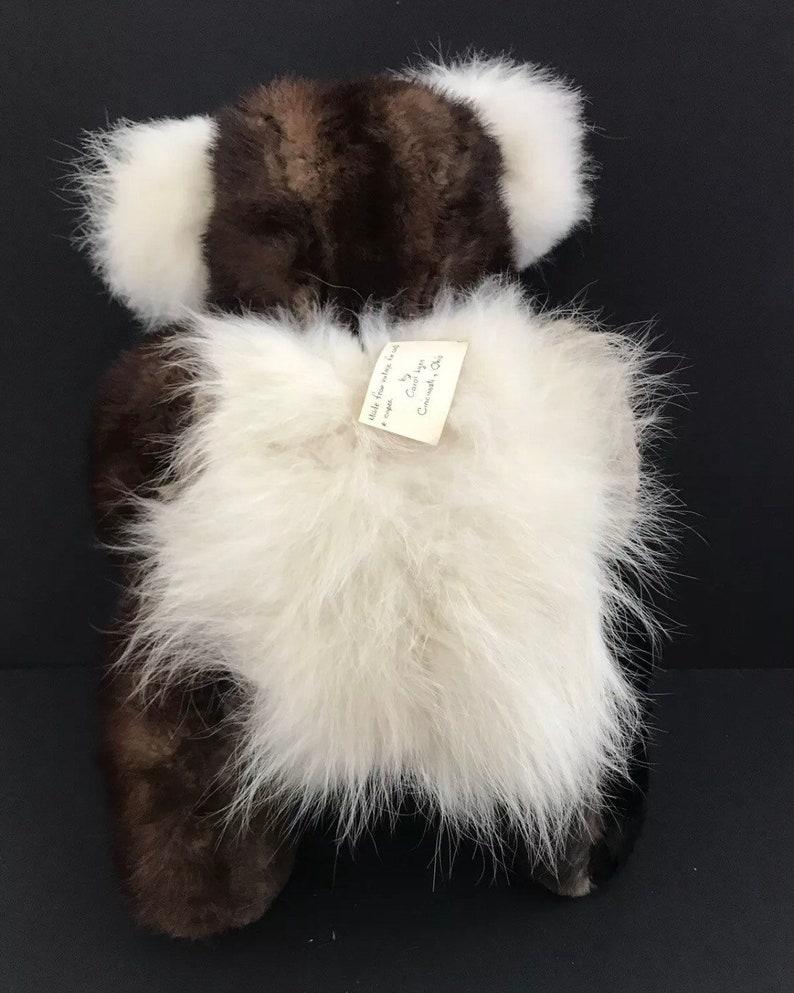 Vtg real fur mink teddy bear handmade carol lyn artist saks fifth avenue