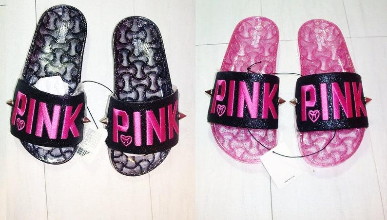 9642f32a1acda Victoria Secret Pink SLIPPERS SLIDES BEACH