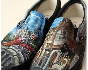 c715ce0d66e Custom Painted Harry Potter shoes
