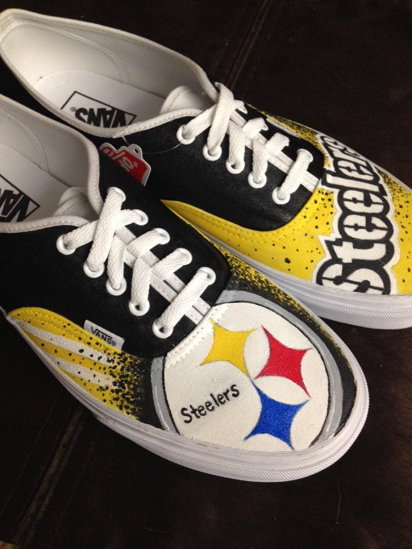 fdf4b6492e37 Custom Painted Pittsburgh Steelers Vans