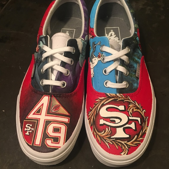 Custom painted Little Mermaid  49er Vans  57177b574