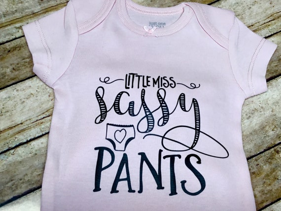 21dddd08 Little Miss Sassy Pants Baby girl Gift Baby clothes Baby | Etsy