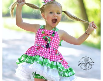 6 6t Strawberry Vintage Tunic and Bloomer Set Bubble Romper