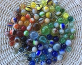 Marbles Lot of 94 Vintage Marbles Glass Marbles Vintage Toys Games 1940s 1950s 1960s