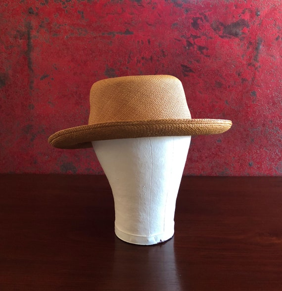 Vintage Straw Hat Woman's Straw Hat Toquilla Straw