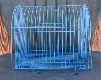 Vintage Blue Metal Birdcage
