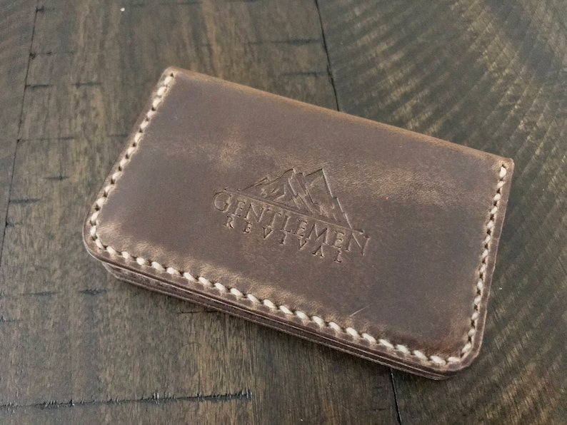 f25c8685769 Horween Natural Chromexcel Card Case The Denali Three Pocket