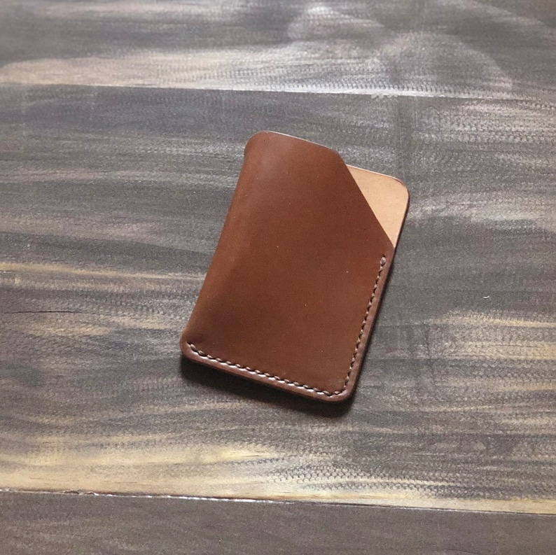 online store 85c17 65ff2 Horween Shell Cordovan Wallet - Handmade Minimalist Shell Cordovan Slim  Card Case Wallet