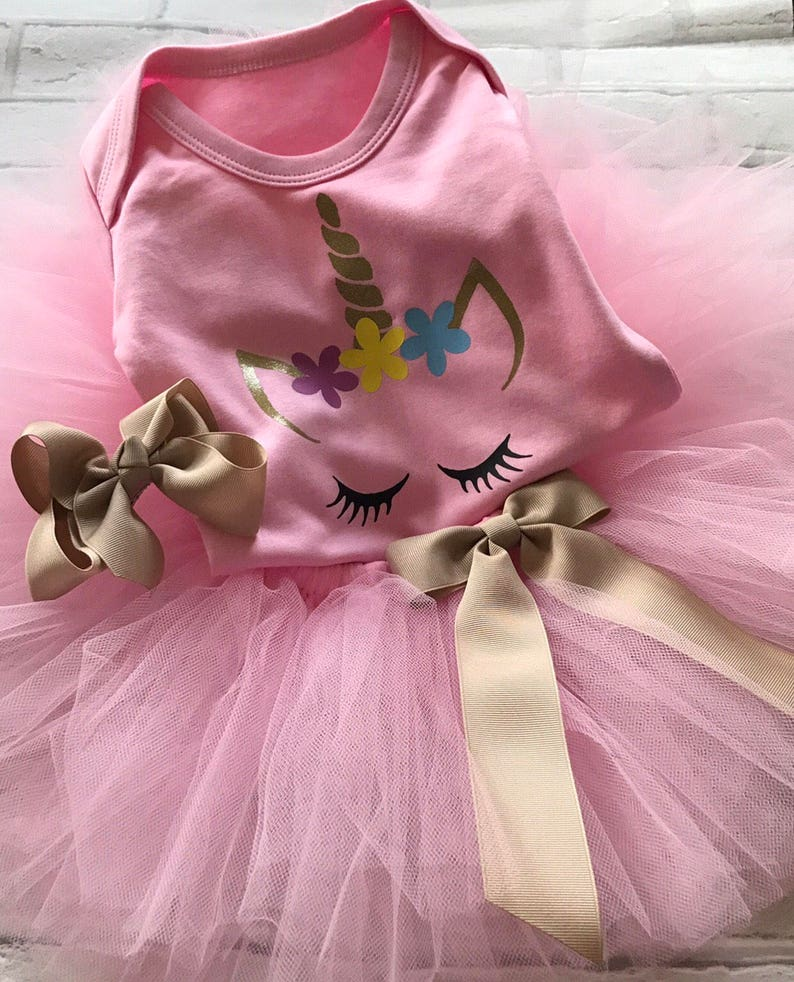 Clothing, Shoes & Accessories Baby Girl 1st Cake Smash Tutu Outfit Vest Extra Full Age 1 Bright Pink Ombré Outfits & Sets