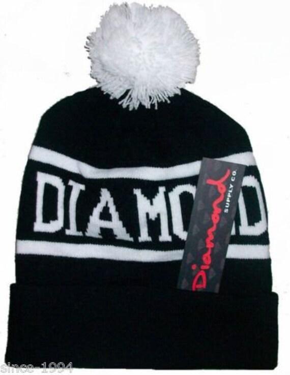 333aab7aead DIAMOND SUPPLY CO Men Baggy Pom Pom Beanie Hat Skull Cap Hip Hop