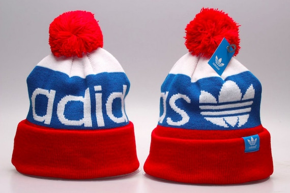 Adidas Originals Mercer Ballie Pom Beanie Winter Hat Cap Red  59a97317204