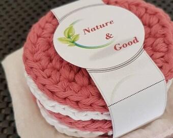 Discs washable 100% washable cotton (handmade) - set of 5