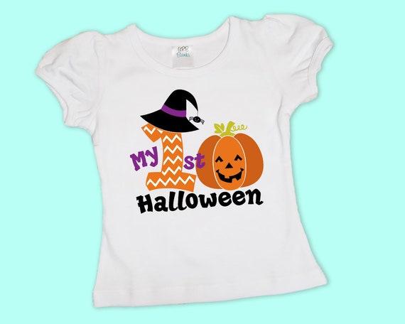 My 1st Halloween, Girls Halloween Shirt, Halloween Onesie, Fall Shirt, Personalized Halloween Shirt, Girls Pumpkin tshirt