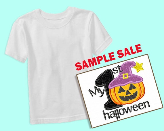 My 1st Halloween Embroidered Shirt, Sample Sale