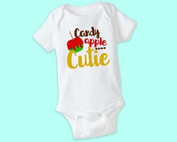 Candy Apple Cutie, Baby Girls Halloween Onesie