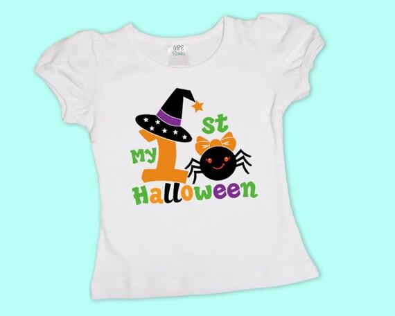 My 1st Halloween, Baby Girls Halloween Shirt or Bodysuit