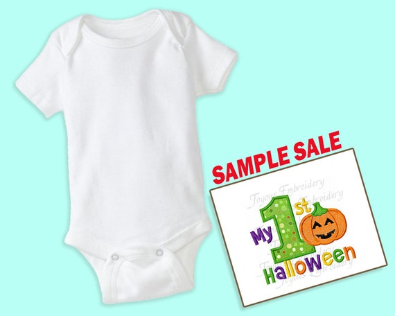 My 1st Halloween Embroidered Shirt, Frankenstein, Sample Sale