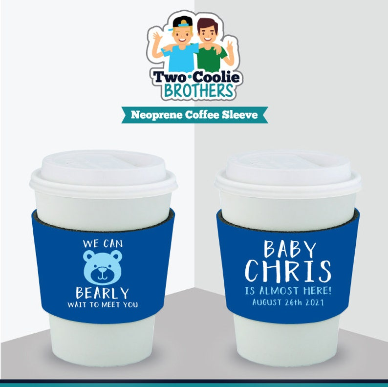 Baby Shower Neoprene Coffee Sleeve Customized Baby Shower Favors and Gifts Twinkle Twinkle Little Star Welcome Baby Emma 2020