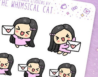 Happy Mail Planner Stickers, Happy Mail Stickers, Cute Happy Mail Planner Stickers, Kawaii Happy Mail Planner Stickers, Happy Mail