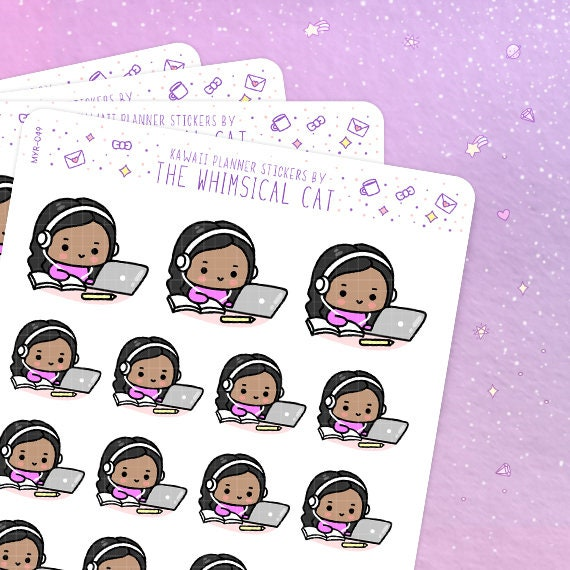 online classes planner stickers online classes stickers etsy