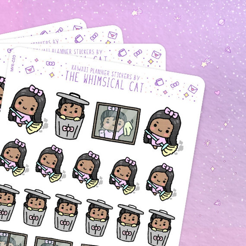Cleaning Day Planner Stickers Cleaning Planner Stickers image 0