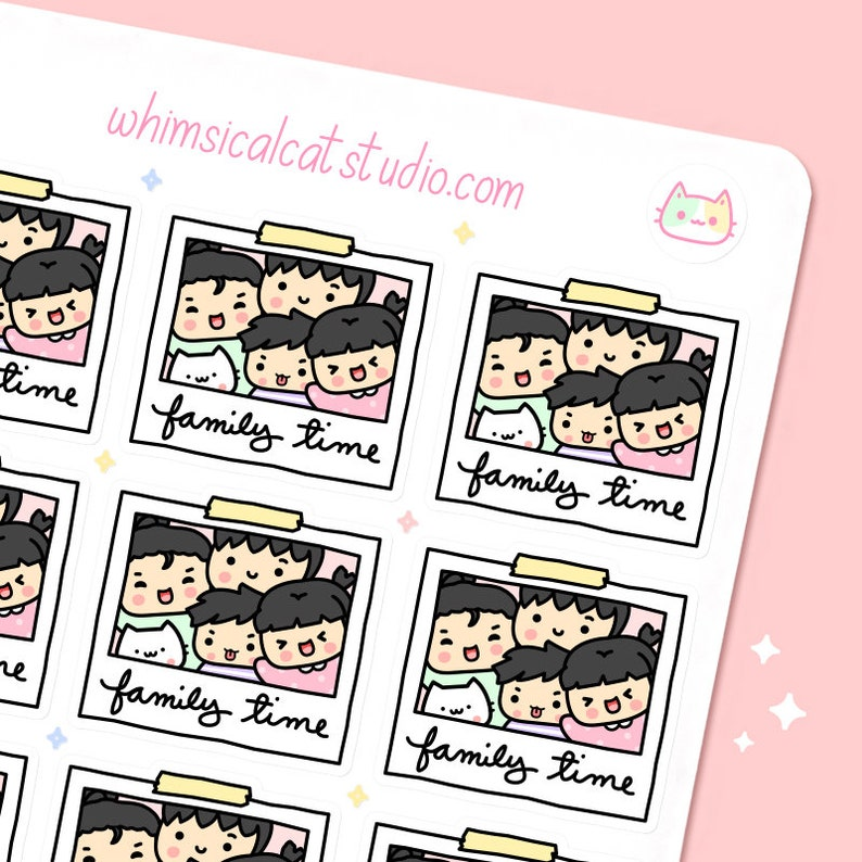 Family Time Planner Stickers Family Bonding Time Stickers image 0