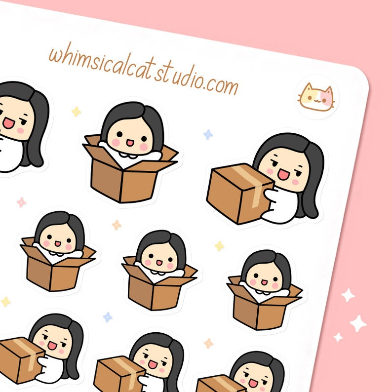 Package Planner Stickers Package Stickers Box Planner image 0